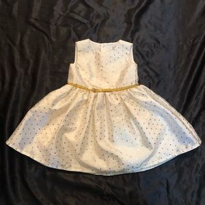 💓Like New 18M Gold and White Dress